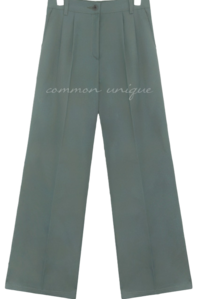 CLAT PINTUCK WIDE SLACKS