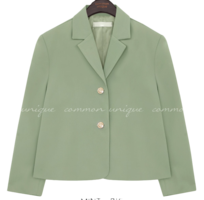 Notch Collar Boxy Jacket