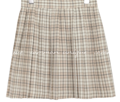 POEM CHECK PLEATS MINI SKIRT