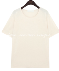 Wide Neck Half Sleeve T-Shirt