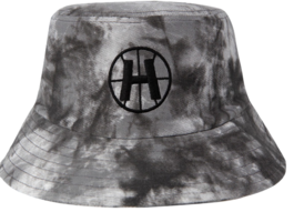 HIDEBlack Embroidered Logo Tie-Dye Bucket Hat