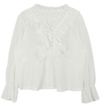 Wai Shirring Lace Blouse 襯衫