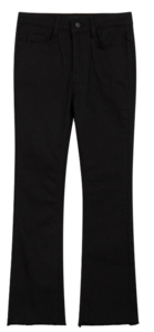 ESSAYFrayed Hem Semi-Bootcut Pants