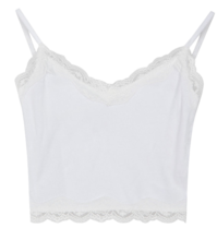 Lace-Trimmed Cropped Sleeveless Top