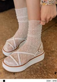 TEENS SEETHROUGH LACE SOCKS