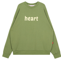 Heart Combination Sweat Shirt (Green)
