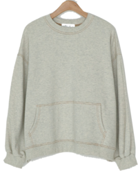 Stitched loose fit sweat shirt