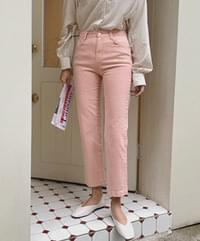 Light color wash pants