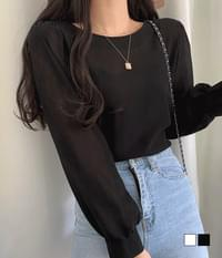 See-through layered blouse