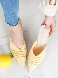 Coent Shirring Mule Slipper 6cm