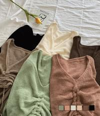 Soye Bookle Shirring Loose Fit Knit