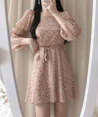 Mir Flower Shoulder Dress