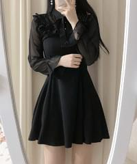 Hemi Frill Ribbon Dress