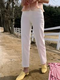 Basic high waist straight cotton pants