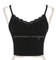 Laced Neck Crop Sleeveless Top