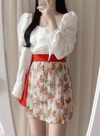 Same day delivery ♥ mellow floral wrinkle skirt