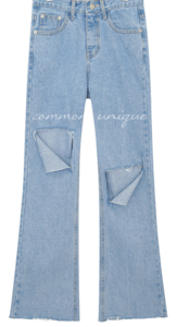 CADDY DAMAGE LONG DENIM PANTS 牛仔褲