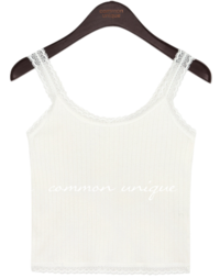 RENIA GOLGI LACE CROP SLEEVELESS
