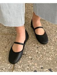 Round Mary Jane flat shoes