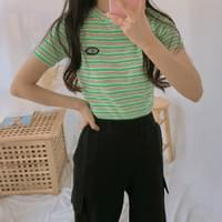 Instant striped T-shirt