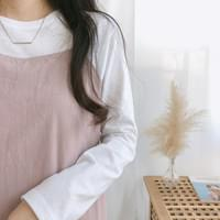 Silk plain long-sleeved T-shirt