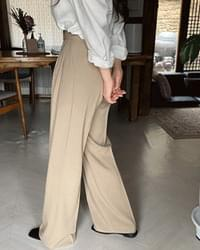 Mild Pintuck Wide Long Slacks