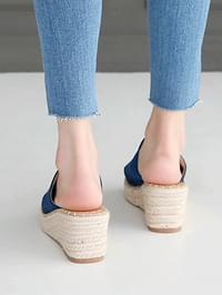 O'N's Espadue Wedge Mule Slippers 7cm