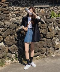 Kumo denim skirt