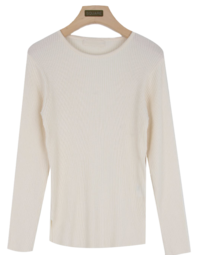 Slim ribbed knit