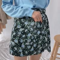 Flower Field Ribbon Wrap Skirt