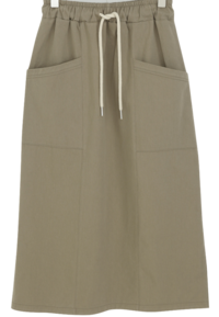 Cargo banding long skirt