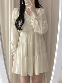 , Same day delivery ♥ Charney frill ribbon dress