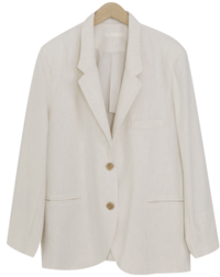 Roll-up linen single jacket