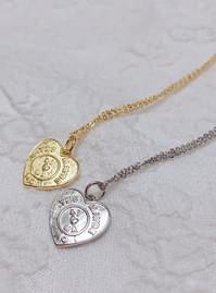 Heart coin necklace