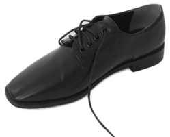 edge toe black oxford shoes