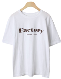 Factory Lettering Short-sleeved T-shirt