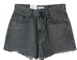Bush-cut denim short pants