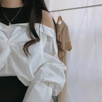 Another off shoulder shirt blouse