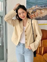 Ivy linen cropped jacket
