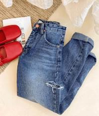 824 Damage Denim Pants