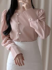 Shiny Square Pearl Blouse