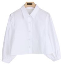 Puff cropped shirt