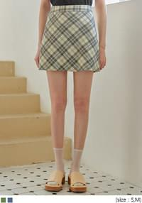 CLEDI CHECK MINI SKIRT