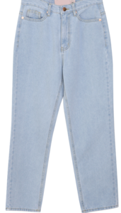 Slim date cropped denim pants