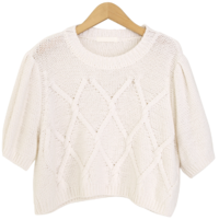 Adorable crop puff knit