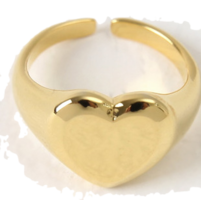 Bold Heart Gold Ring