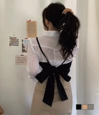 Rap Bustier coordinating back and forth