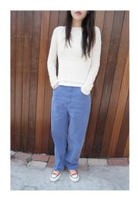pigment color cotton pants