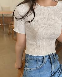 Smoothie Wrinkle Frill Half T-Shirt