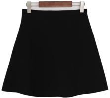 Mini-inverted pleated skirt
